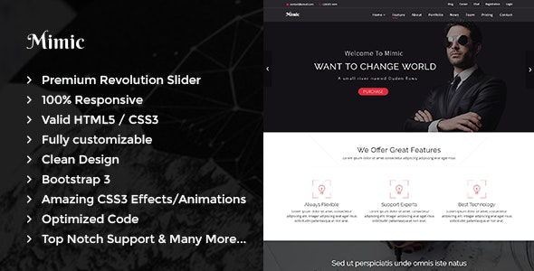Mimic - OnePage Business HTML Template - Business Corporate