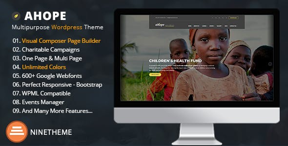 Ahope - Charity & Nonprofit WordPress Theme