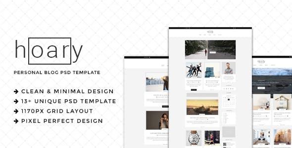 Hoary - Minimal Blog PSD Template