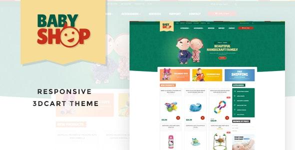 Leo baby Responsive 3dcart Theme - 3dcart eCommerce
