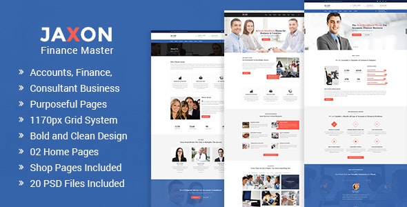 Jaxon – Accounts, Finance and Consulting Business PSD Template - Business Corporate