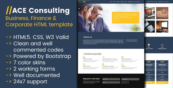 Ace Consulting - Business, Finance and Corporate HTML template - Corporate Site Templates