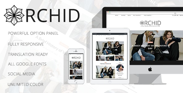 Orchid - A Clean Personal WordPress Blog Theme - Personal Blog / Magazine