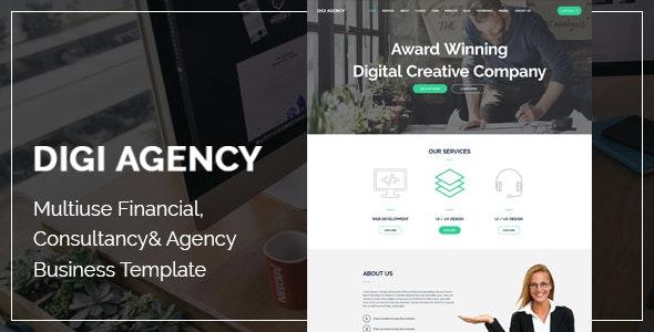 Digi Agency - Multipurpose PSD Template - Corporate Photoshop