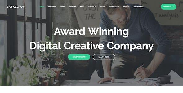 Digi Agency - Multipurpose PSD Template