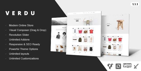 Verdu - Creative Multiuse eCommerce Theme - Minimalist WooCommerce