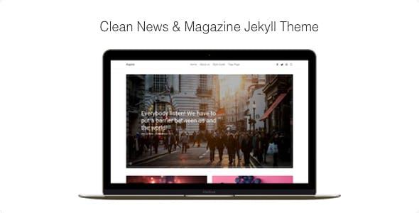 Aspire - Clean News & Magazine Jekyll Theme