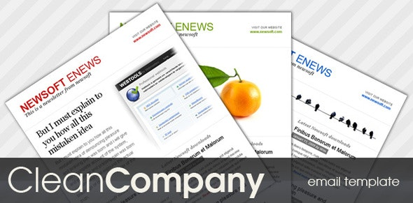 Clean Company - Newsletters Email Templates