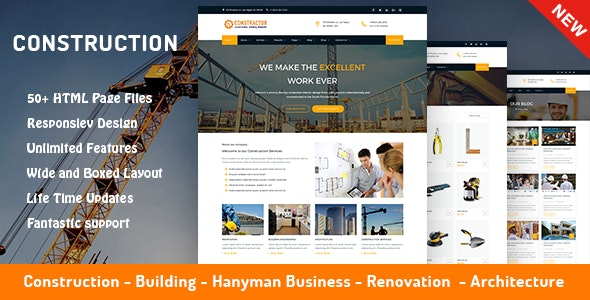 Construction, Architecture & Building Company Template - Constructor - Corporate Site Templates