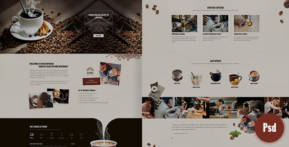 CoffeeSK Psd Template - Photoshop UI Templates
