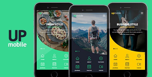 Mobile App Design Templates from ThemeForest