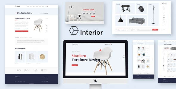 Interior Store - Ecommerce PSD Template - Retail Photoshop