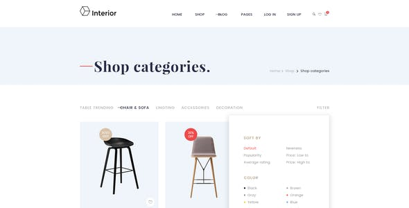 Interior Store - Ecommerce PSD Template
