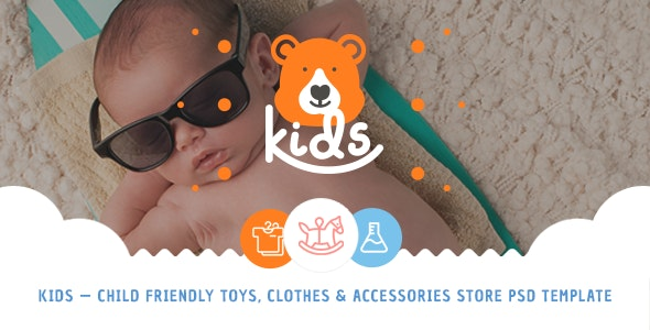 Kids - Child Friendly Toys, Clothes & Accessories Store PSD Template - Children Retail