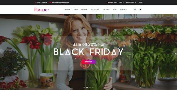 Flower - Flower E-commerce PSD Template
