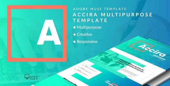 Accira Multipurpose Adobe Muse Template - Creative Muse Templates