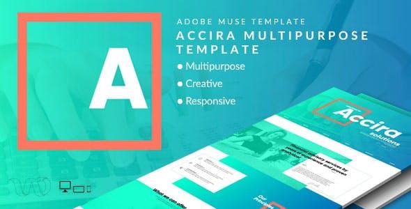 Accira Multipurpose Adobe Muse Template