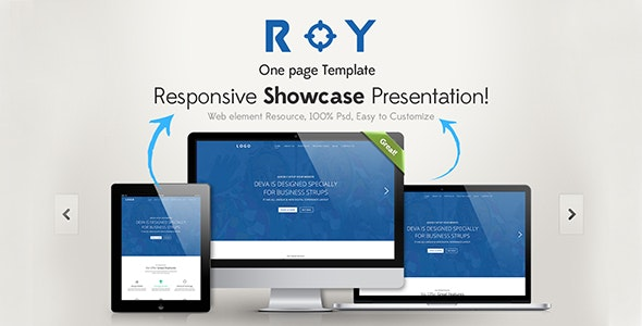 Roy One Page HTML Template - Corporate Site Templates