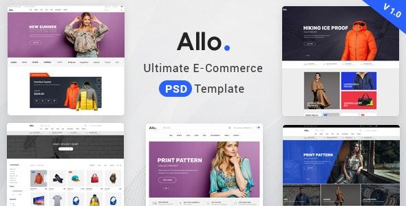 Allo E-Commerce Psd Template - Retail Photoshop