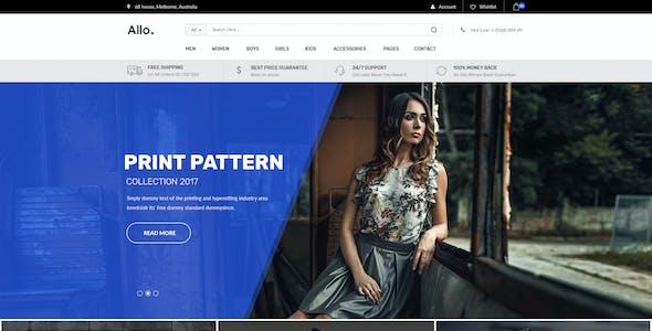 Allo E-Commerce Psd Template