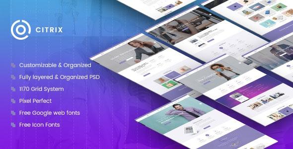 Citrix   Multi-Purpose Website PSD Template - Business Corporate