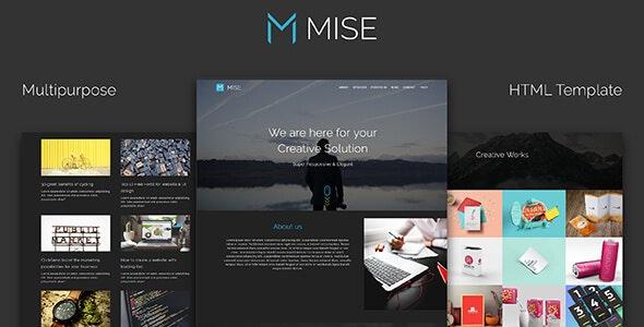 MISE_Multipurpose HTML Template - Creative Site Templates