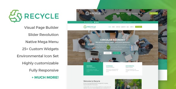 Recycle - Environmental & Green Business WordPress Theme - Business Corporate