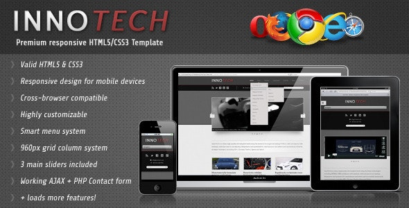 InnoTech - Premium Responsive HTML5/CSS3 Template - Corporate Site Templates