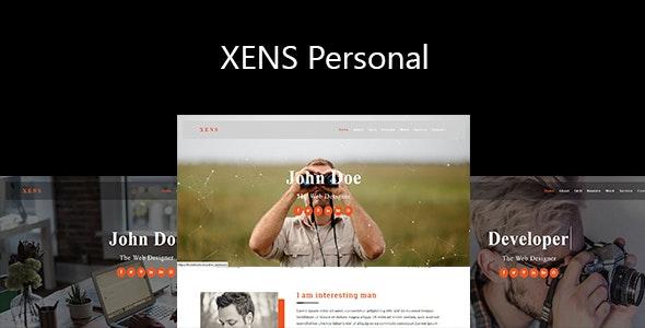 Xens-Personal / Portfolio Responsive Template - Personal Site Templates