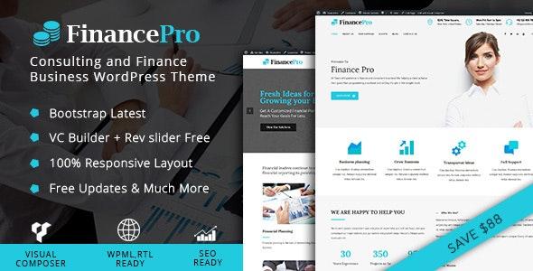 FinancePro - Consulting and Finance Business WordPress Theme - Corporate WordPress
