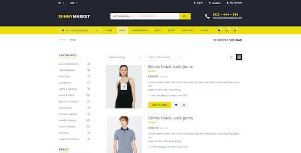 SunnyMarket - Ecommerce & Blog PSD Template