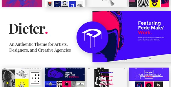 Dieter - Authentic Artist & Creative Design Agency Theme - Portfolio Creative