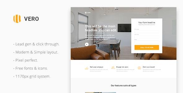 Vero - Marketing Landing Page Template - Marketing Corporate