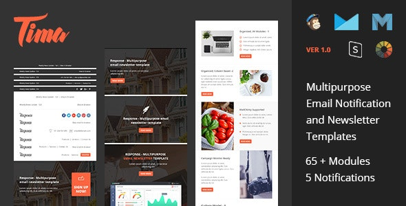 Tima - Multipurpose Email Notifications & Newsletter Templates - Email Templates Marketing