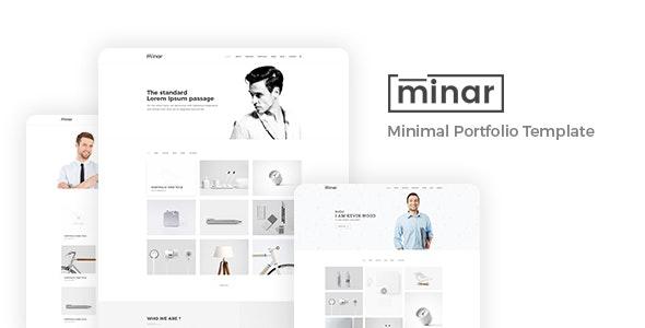 Minar - Minimal Portfolio Template - Portfolio Creative
