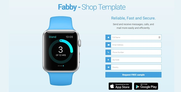 Fabby - One Product Shop Template - Landing Pages Marketing