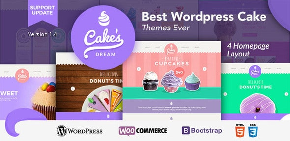 Cake Dream - Responsive Wordpress Woocommerce Theme - WooCommerce eCommerce