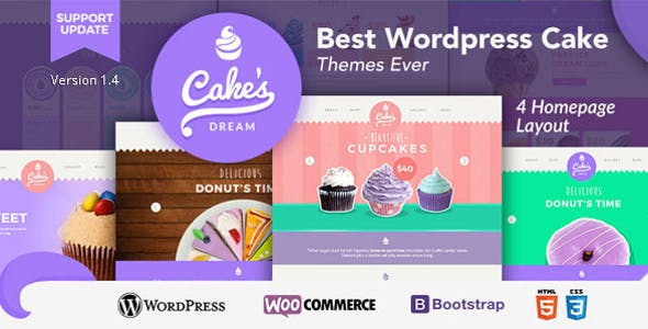 Cake Dream - Responsive Wordpress Woocommerce Theme
