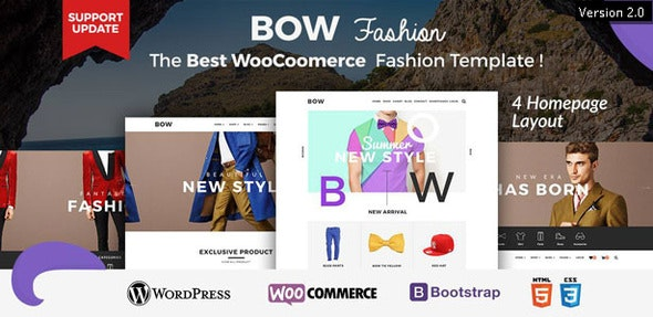 Bow - Responsive Wordpress Woocommerce Theme - WooCommerce eCommerce