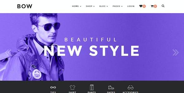 Bow - Responsive Wordpress Woocommerce Theme