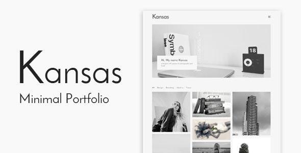 Kansas - Minimal Portfolio WordPress Theme - Portfolio Creative