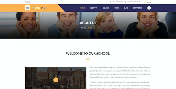 Study Pro - Education & University PSD Template