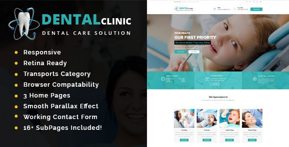 Dental Clinic - Health And Medical HTML Template - Health & Beauty Retail