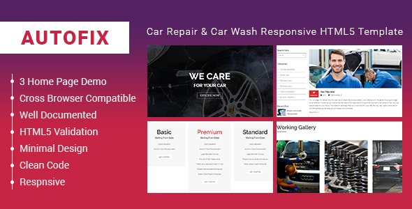 AutoFix - Car Repair & Car Wash Responsive HTML5 Template - Business Corporate