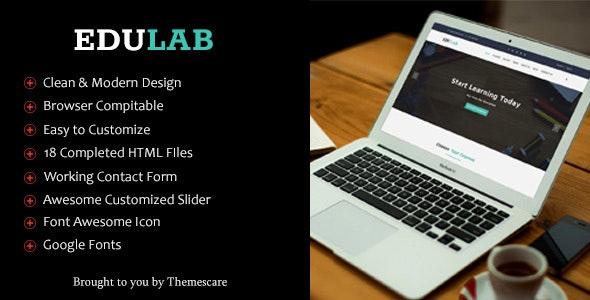 Edulab - Education HTML5 Template - Corporate Site Templates