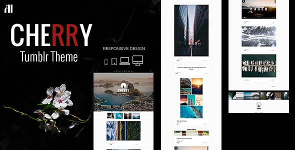 CHERRY - A Tumblr Theme Made for Beautiful Large Posts & Photos - Blog Tumblr