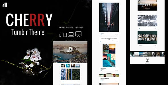 Download CHERRY - A Tumblr Theme Made for Beautiful Large Posts & Photos
