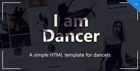 I am Dancer - HTML Template Bootstrap - Creative Site Templates