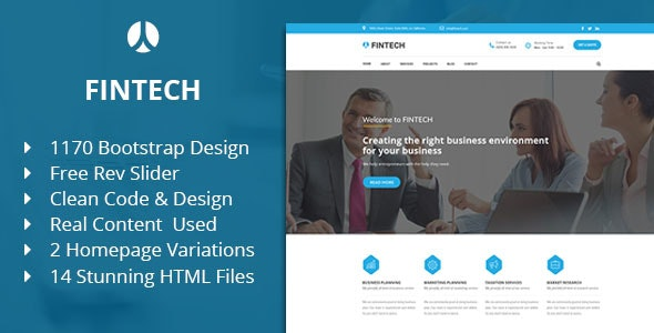 Fintech - Business, Finance & Corporate HTML Template - Business Corporate