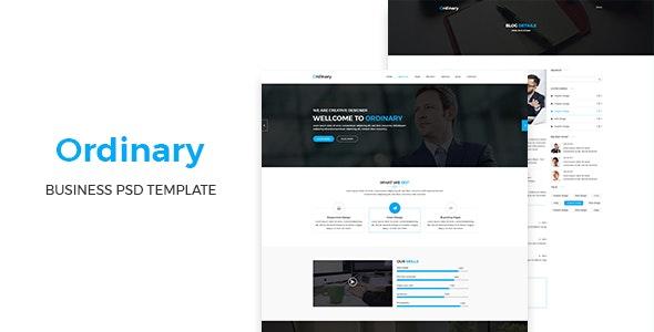Ordinary - Corporate PSD Template - Business Corporate